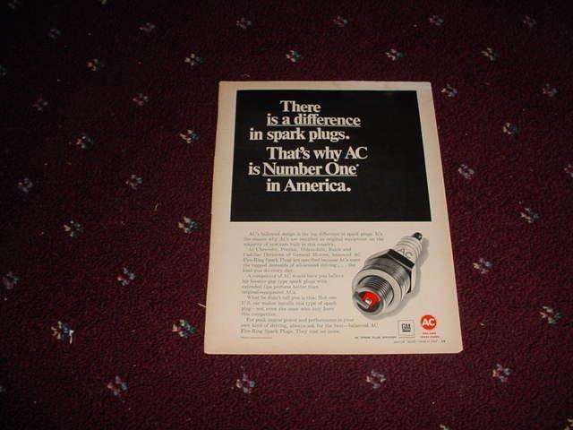 1967 AC Spark Plug ad