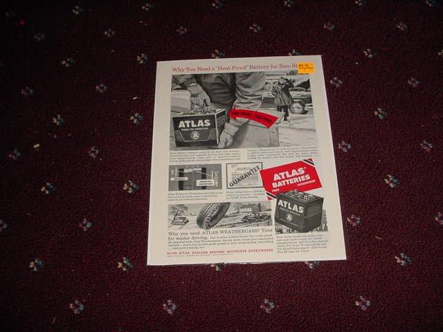 1953 Atlas Battery ad #1