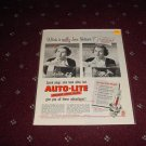 Auto-Lite Spark Plug ad with Joan Fontaine