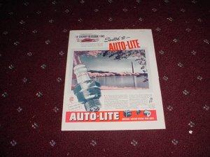 1947 Auto-Lite Spark Plug ad