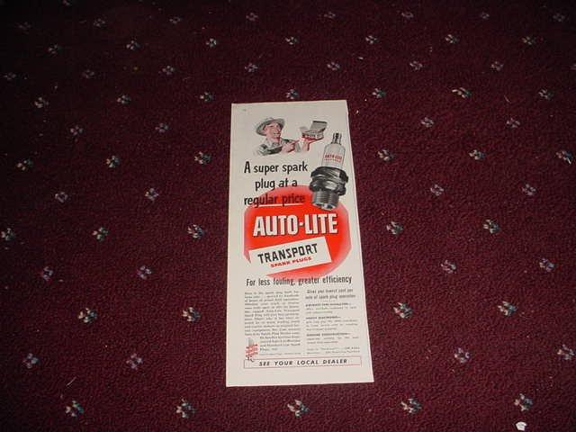 Auto-Lite Spark Plug ad #2