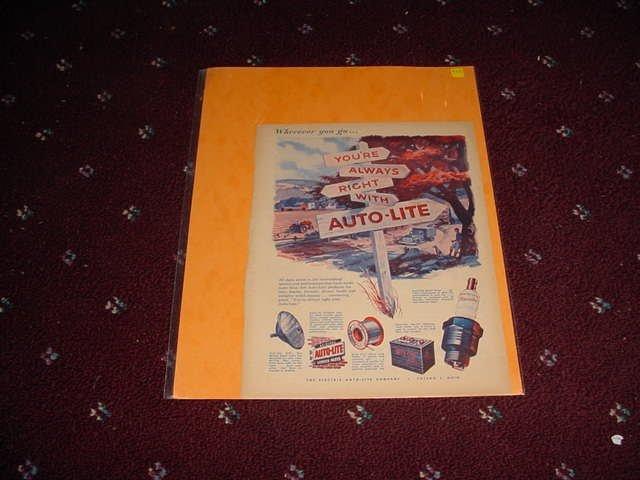 Auto-Lite Parts ad #1