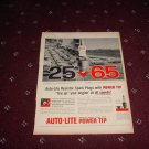 1958 Auto-Lite Spark Plug ad