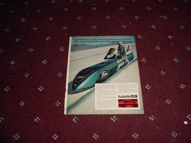1969 Auto-Lite Spark Plug ad #2