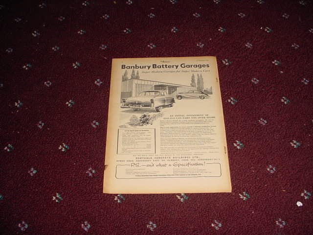 1955 Banbury Battery Garage ad from the UK