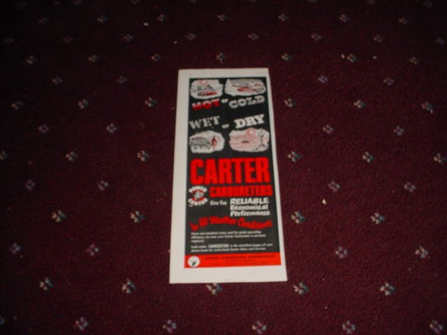 1952 Carter Carbureter ad