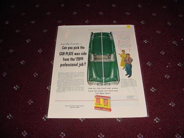 Car Plate Wax ad