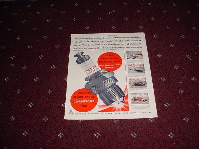 1935 Champion Spark Plugs ad