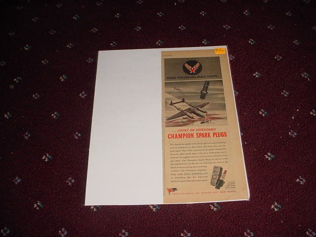 1944 Champion Spark Plugs ad #1