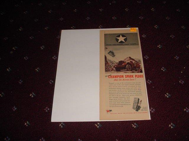 1944 Champion Spark Plugs ad #2