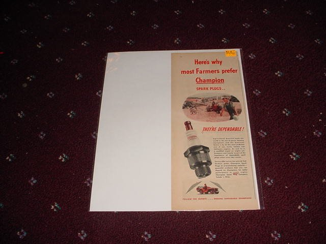 1946 Champion Spark Plugs ad