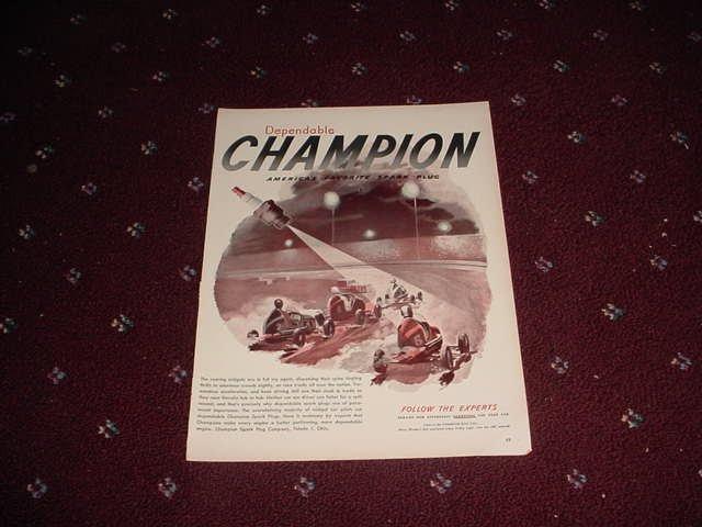 Champion Spark Plugs ad #1
