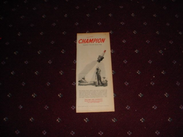 1948 Champion Spark Plugs ad