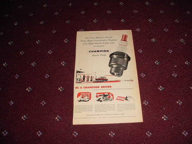 Champion Spark Plugs ad #5
