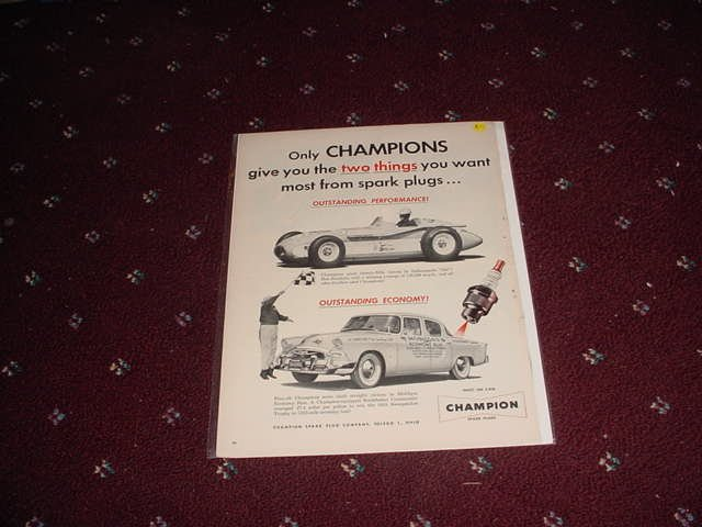 1955 Champion Spark Plugs ad