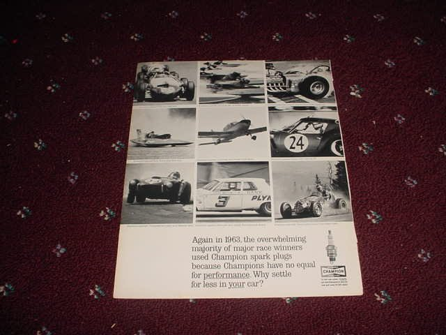 1963 Champion Spark Plugs ad