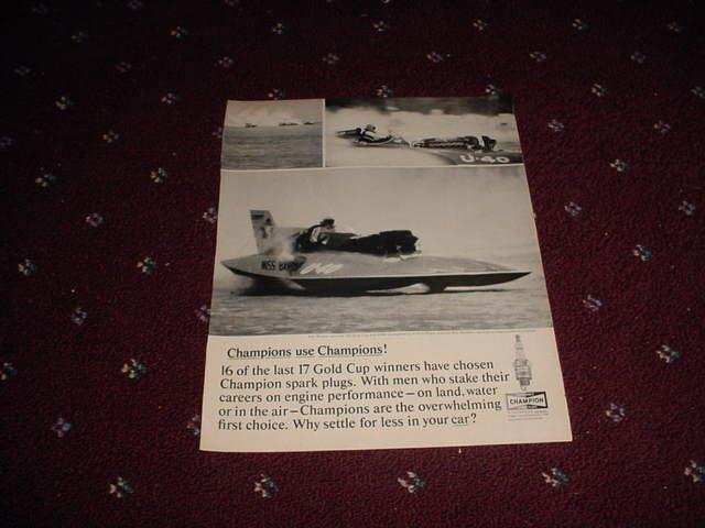 1964 Champion Spark Plugs ad #2