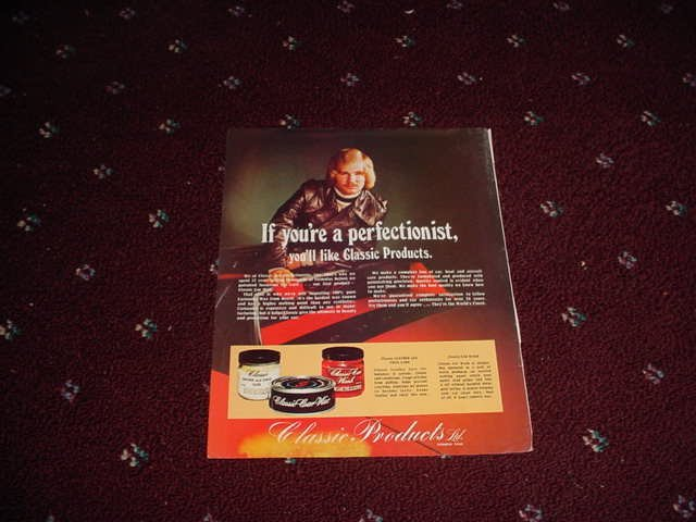 1974 Classic Car Wax ad