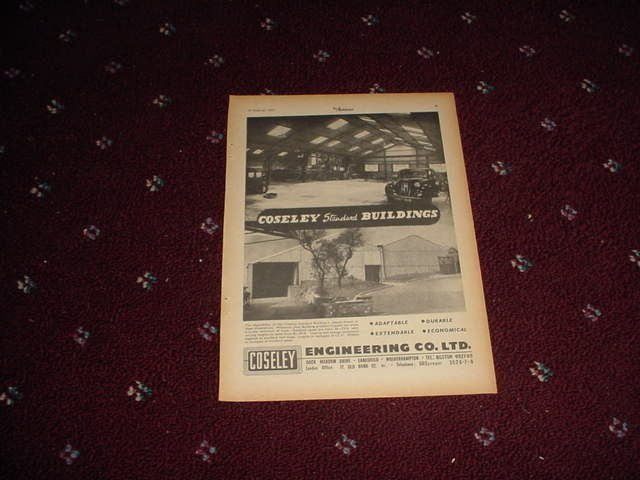 1955 Coseley Engineering ad from the UK