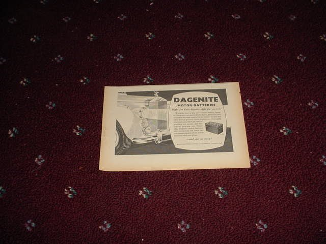 1955 Dagenite Battery ad from the UK