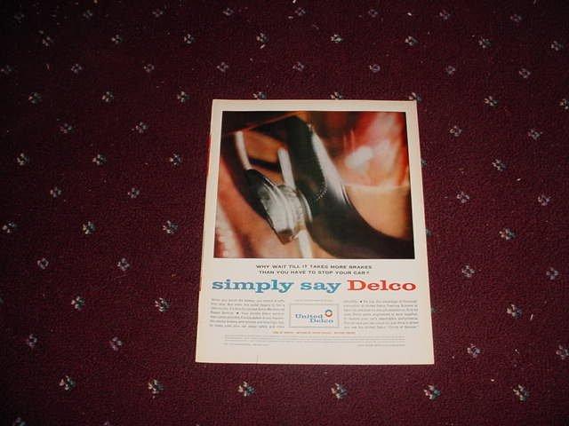 Delco Brakes ad