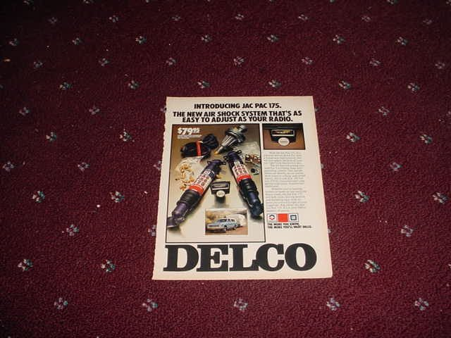 Delco Jac Pak 175 Air Shock Kit ad