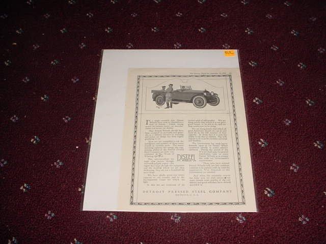 1918 Disteel Wheels ad