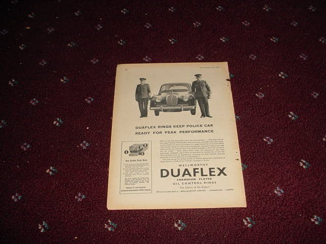 1958 Duaflex Rings ad from the UK