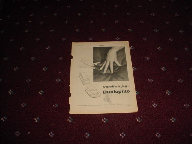 1956 Dunlopillo ad from the UK