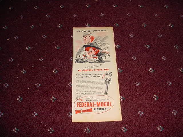 1950 Federal-Mogul Oil Bearings ad