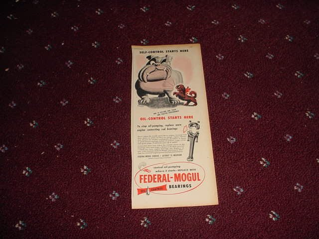 1951 Federal-Mogul Oil Bearings ad #1