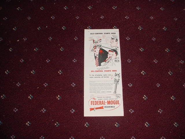 1951 Federal-Mogul Oil Bearings ad #2