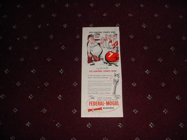 1952 Federal-Mogul Oil Bearings ad #2