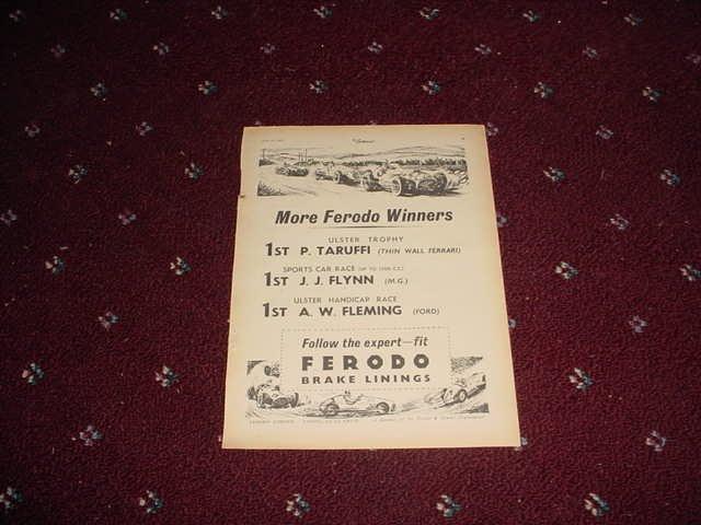 1952 Ferodo Brake Linings #3 ad from the UK