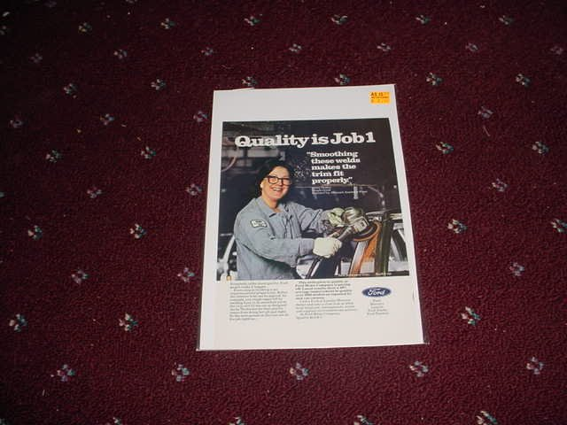 1982 Ford Quality Job 1 ad