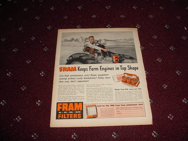 1951 Fram Oil Filter ad #1
