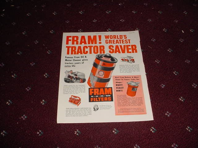 1951 Fram Oil Filter ad #2