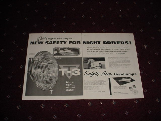 1956 GM T-3 Headlamp ad