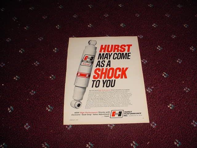 1970 Hurst Shock Absorber ad