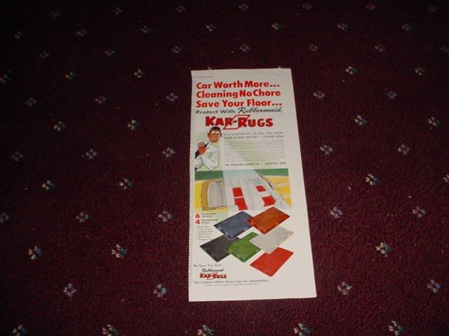 1951 Kar Rugs ad