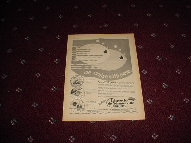 1952 Laycock De Normanville Overdrive ad #1 from the UK