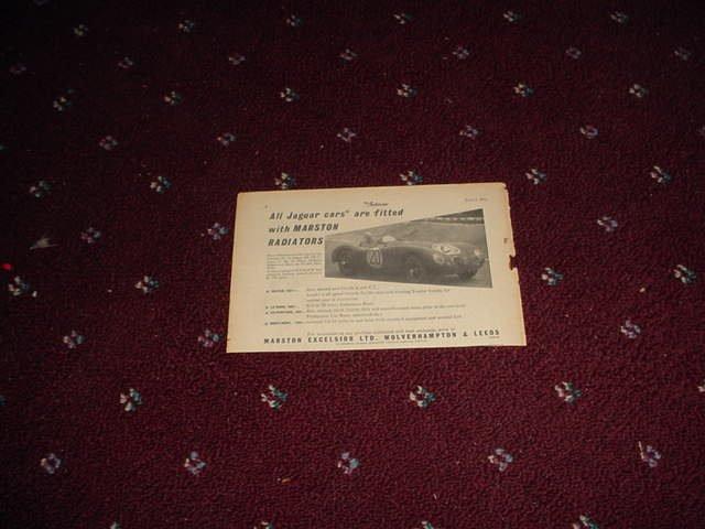 1952 Marston Radiators ad from the UK
