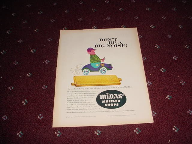 1960 Midas Muffler ad