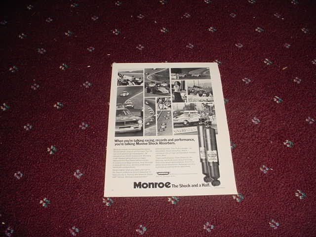 1973 Monroe Shock Absorber ad