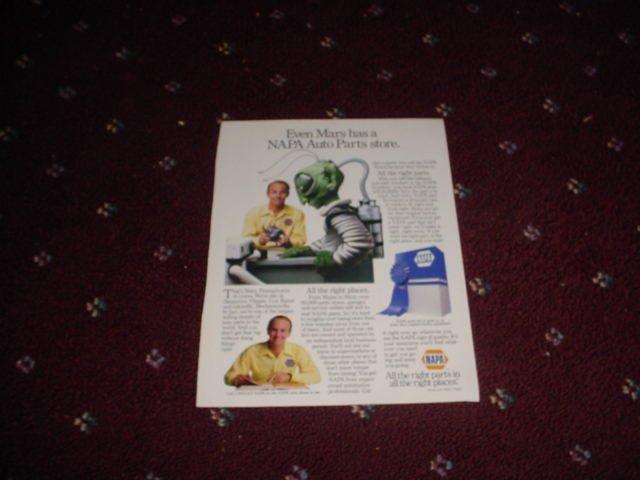 1986 NAPA Parts ad
