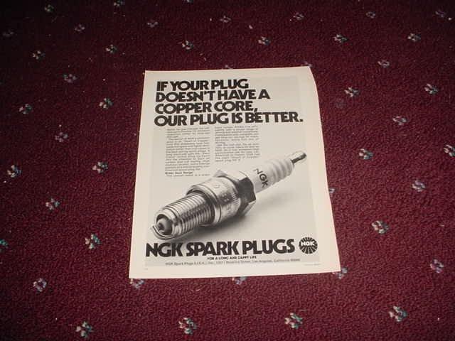 NGK Spark Plugs ad