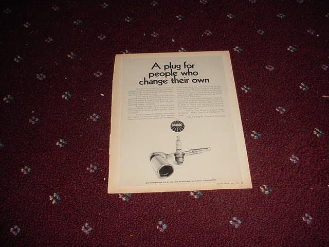 1971 NGK Spark Plugs ad