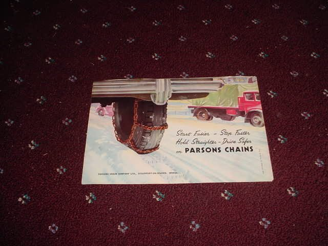 1955 Parsons Chains ad from the UK