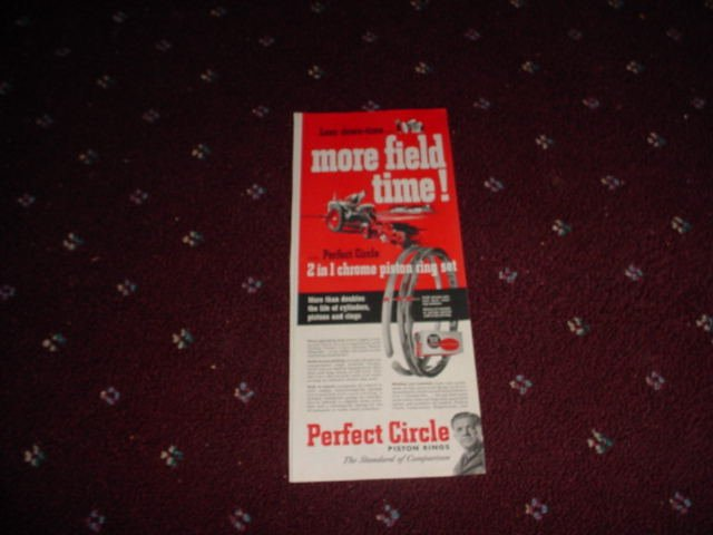 1952 Perfect Circle Piston Rings ad #1