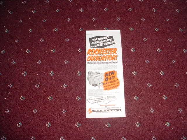 1952 Rochester Carburetor ad